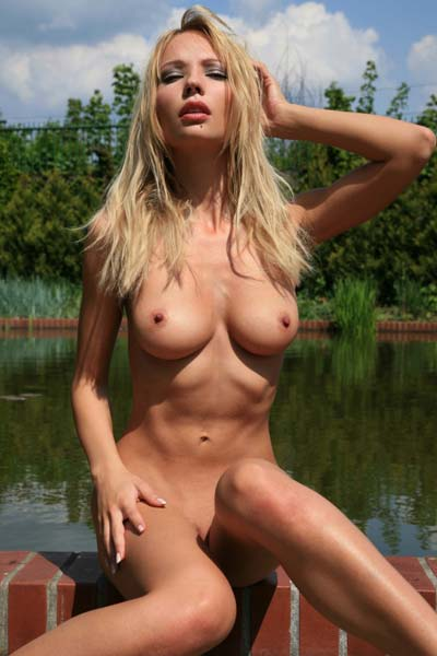 Alluring skinny and extremely hot young girl Kasia shows her stunning slim body and her sexy boobs