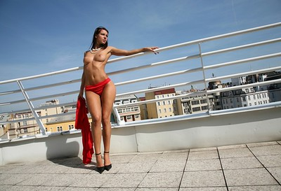 Melisa in Red Dress from Photodromm