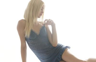 Francesca in Beauty In Blue from X Art