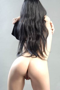 Mesmerizing dark haired beauty Plum A is ready to take everything off