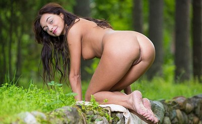 Dolores M in Nymph In The Woods from Stunning 18