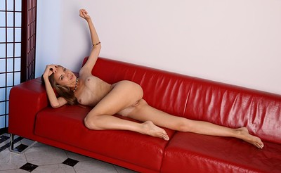 Sofy B in Red Couch from Stunning 18