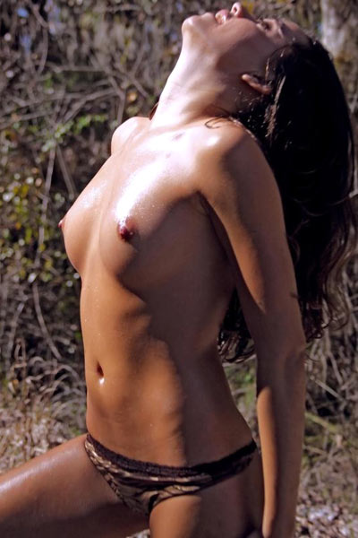 Exhibitionist gets hot and sweaty and naked in the summer sun by the railroad tracks