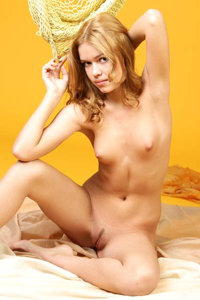 Fascinating Dana playfully poses in the nude letting you admire her perfect amenities