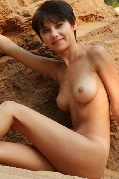 Lovely girl with charming smile Katya wants to demonstrate the art of posing in nude