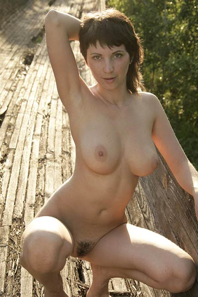 Kate loves posing undressed outdoors in nature and she do it every single day