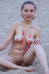 Sweet Meseda strips down and shows her nice perky tits and juicy pink twat