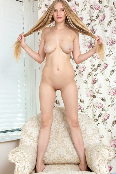 Gyana A in Horny Blonde from Nubiles