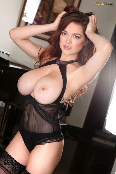 Tessa Fowler in Sheer Lingerie from Pinup Files