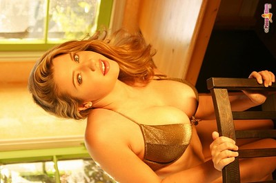 Erica Campbell in Glitter Bikini Photo Shoot from Pinup Files