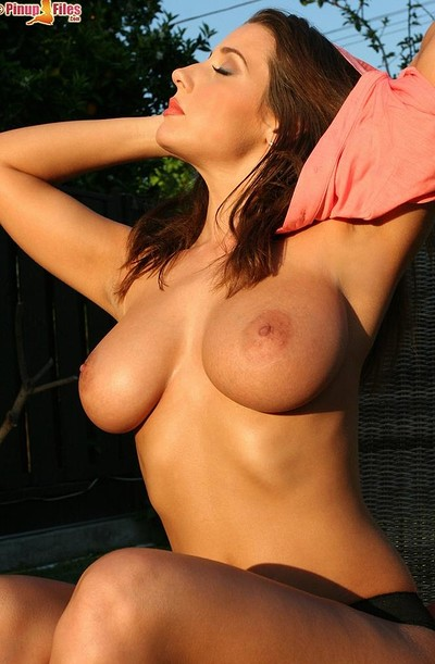 Erica Campbell in Outdoor 34 Dd from Pinup Files