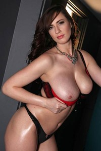 Hot Lana Kendrick poses in sexy lingerie showing off her big tits