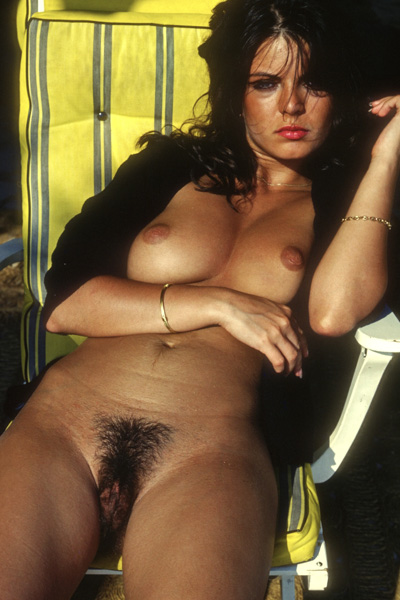Julia Perrein is an outstanding babe with big tits and a hairy inviting beaver