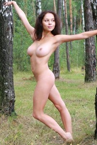 Blossoming young beauty Nicolina gets nude and nasty