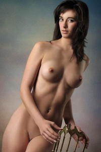 Adventurous and daring domai beauty Sabrina shows her attractive young body