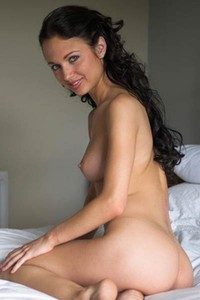 Alluring girl Milana gets nude and nasty