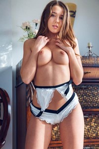 All natural damsel Sybil bares her smoking hot body in Black & White