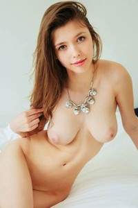 Sexual goddess Mila flaunts her big perfect titties and her slim waist just for you