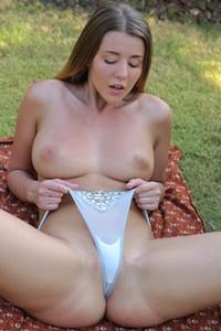 Amazing brunette dips her fingers deep inside her sticky wet vagina