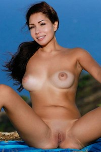 A first look at Romana A and her amazing tanned breasts and delicious yummy pussy