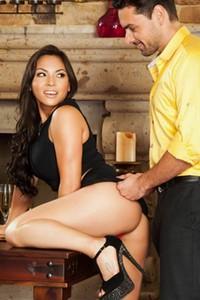 Seductive Latina Adrianna Luna enjoys getting filled with her lovers boner