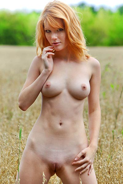 It is a beautiful day for this delightful babe to get naked outdoors in nature