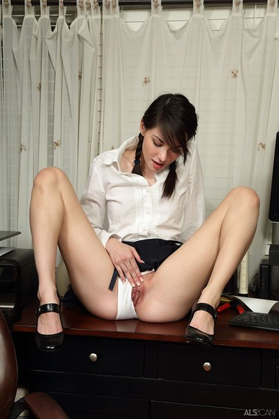 Emily Grey in Slow Strip from Als Scan