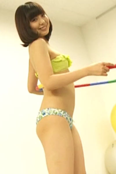 Cute Asian Uki Satake is waiting for you for hard training in the gym
