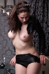 Extremely erotic photoshoot with hot and horny brunette Judith Able