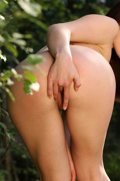 Foxy Salt is pretty all naughty brunette that likes to masturbate in nature