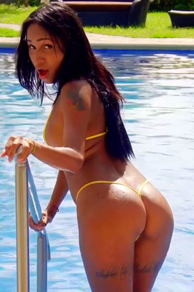 Adorable and playful vixen Sofia Suarez nude in Teenie Tiny Bikini