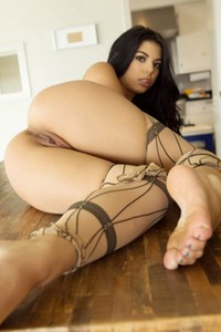 Top class Beauty Gina Valentina shows her attractive young body in August 2017 Pet of the Month