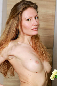 Skinny blonde chick Judith is feeling horny and ready for some wild action