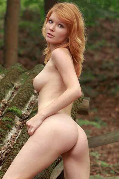 This is secret place where naughty hot babe likes to get naked and enjoy the nature