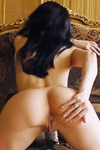 Outstanding horny babe peels off her clothes and starts to rub her yummy meaty cunt
