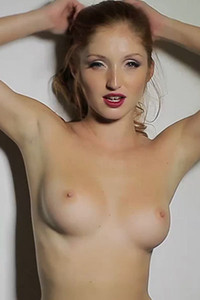 Redhead model Michelle H stripping and dancing only for you