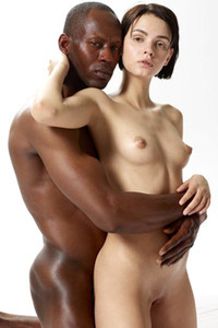 Petite and cute Ariel poses in hot lovemaking embrace with her lover