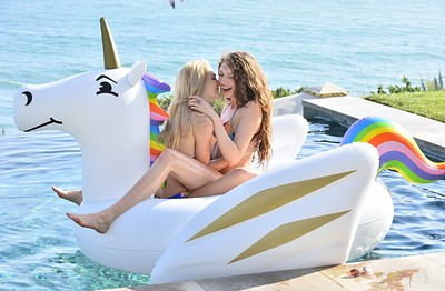 Elena Koshka and Kenna in Sex For Three By The Sea from X-Art