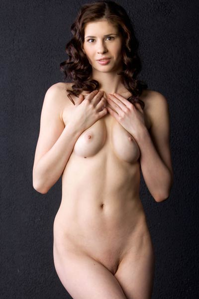 All this sexy brunette model Muslan needs is you and your big tool