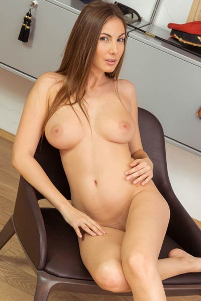 Get in the library and have fun with this adorable busty brunette angel