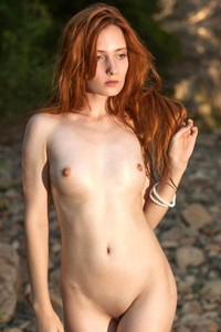 Enjoy nice photo set of skinny small titted model May