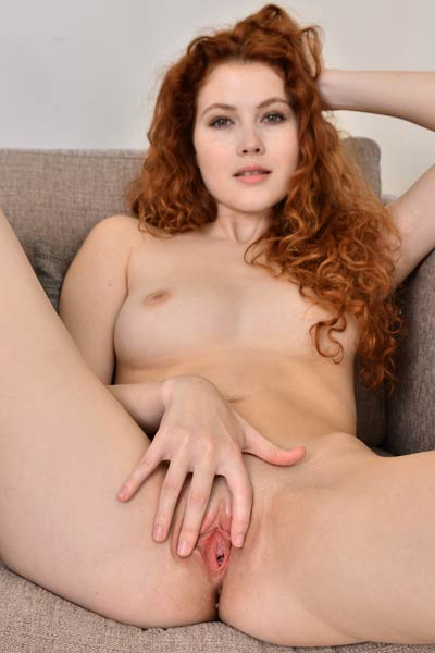 Smoking charmer Heidi Romanova nude in Natural Redhead