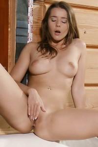 Busty model Sybil A woke up horny and ready for some nice masturbation