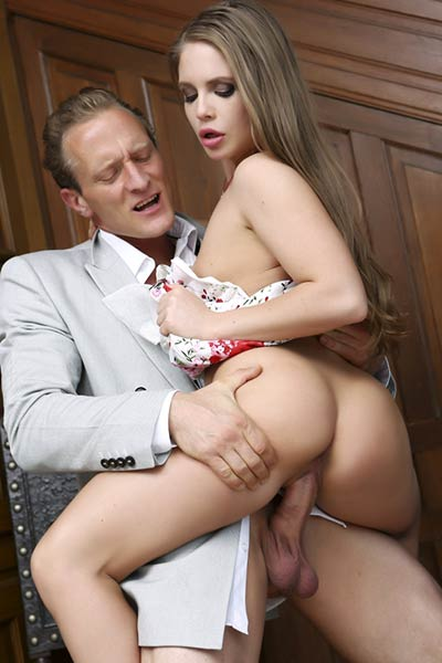 Romantic and effortlessly beautiful Babe Alessandra Jane erotically poses in My Bad Family 2