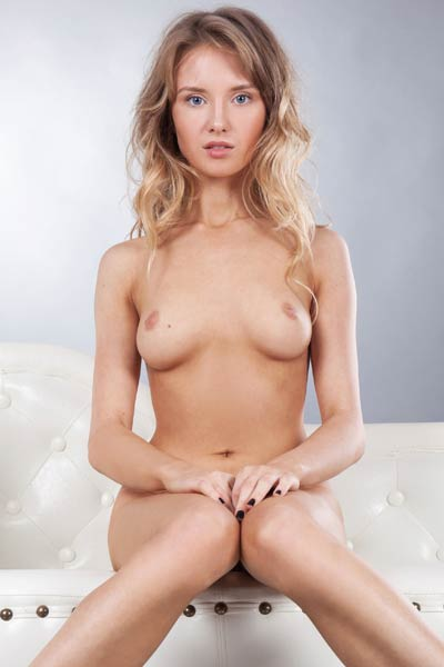 Monika V unveils her sweet sex assets as she poses naked for a photo shoot