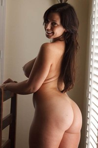 Spend some time in the house with this busty all natural brunette hottie