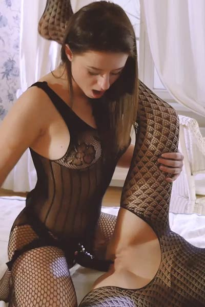 Strapon is the only thing that can satisfy those two naughty lesbians in fishnets
