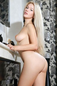 So hot sexy and pretty blonde Genevieve Gandi showcasing her astonishing body curves