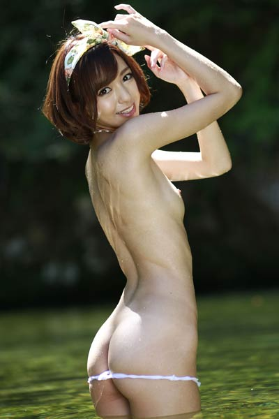 Adventurous and daring babe Girl Aino Kishi bares her gorgeous body in River Nymph