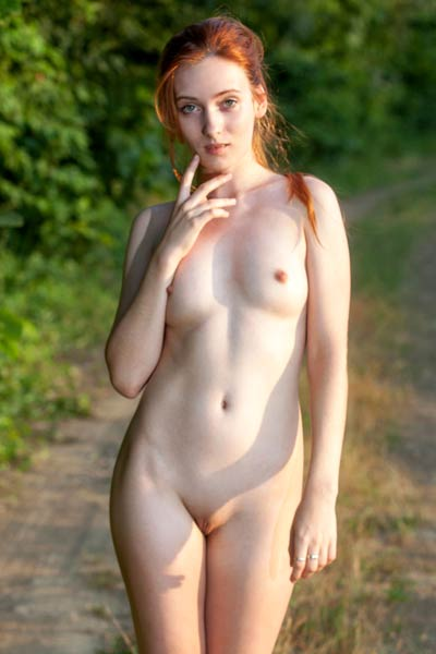 Lonely May found a nice place where she can enjoy nature all naked